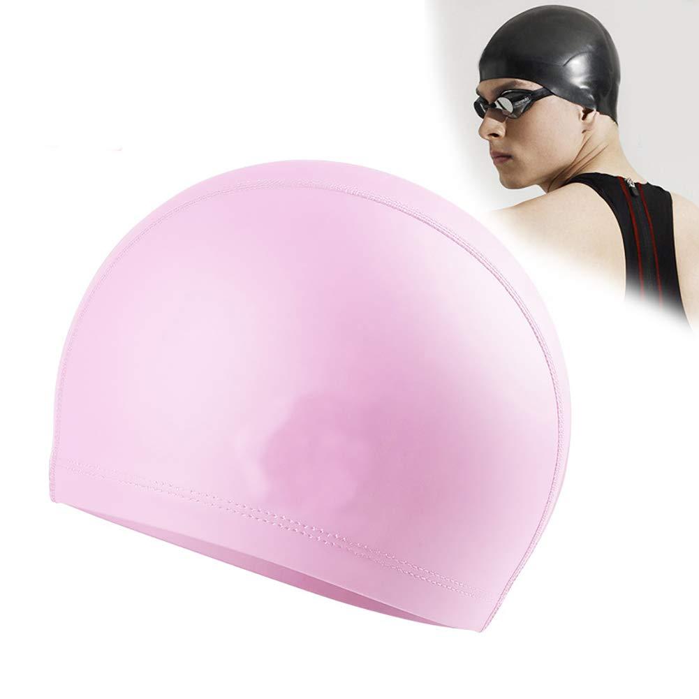 1pc Swimming Cap No-Slip Swimming Cap Swimming Cap Ear Wrap Waterproof Hat for Adult Women Men(Pink) by Asien (Image #6)