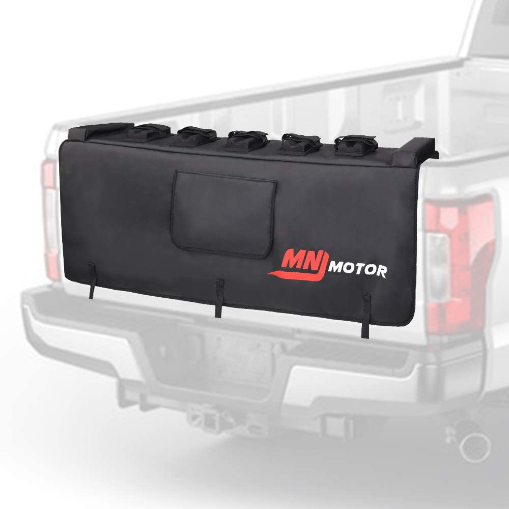 MNJ Motor Tailgate Protection Pad with Bike Fixing Straps for Trunk Tailgate Pad with 2 Tool Pockets