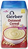 Gerber Single-Grain Oatmeal Baby Cereal, 8 oz (Pack of 6)