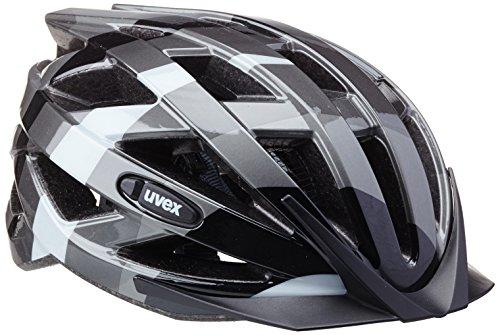 UVEX Kinder Fahrradhelm Air Wing, Dark Silver/Black, 52-57 cm, 4144260515