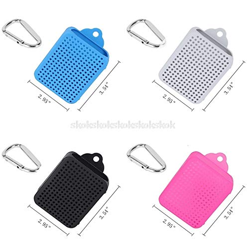 V2AMZ - Silicone Protective Skin Case Cover Carabiner for JBL GO 2 Bluetooth Speaker My07 19