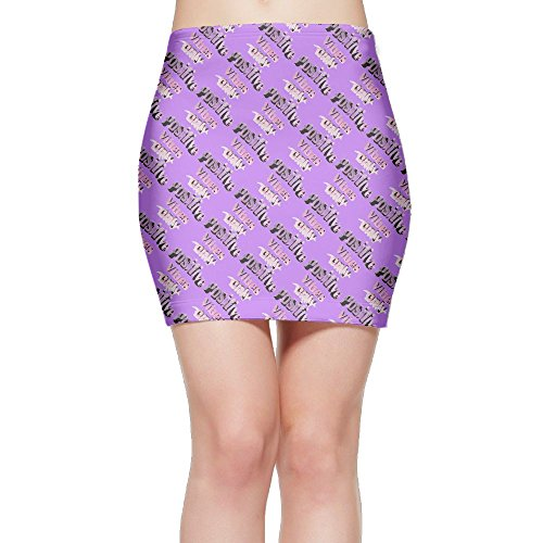 SKIRTS WWE Positive Vibes Only Women's Package Hip High Waist Mini Short Skirt by SKIRTS WWE