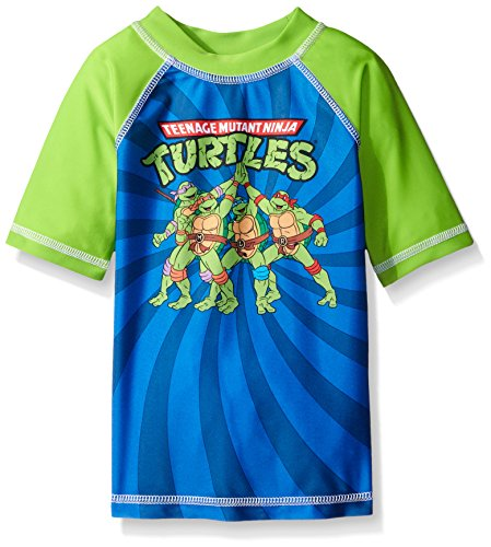Nickelodeon Little Boys' Toddler' Toddler TMNT Rashguard, Blue/Green, 3T (Ninja Turtle Blue)
