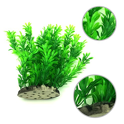 Artificial aquatic plants pietypet 7 pcs large aquarium for Fake pond plants