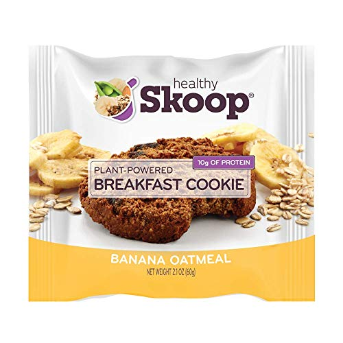 Healthy Skoop Breakfast Cookie, Banana Oatmeal, 2.1 Ounce, Banana Oatmeal, 12 Count