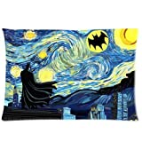 Starry Dark Knight Zippered Pillow Case 20x30 (one sides)