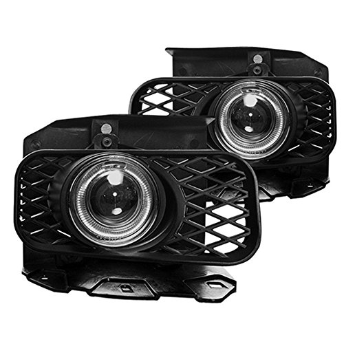 Winjet WJ30-0100-09 Performance Series for Ford [1999-2003 F-150] [1999-2002 Expedition] Clear Lens Driving Halo Ring Projector Fog Lights (Best Aftermarket Fog Lights)