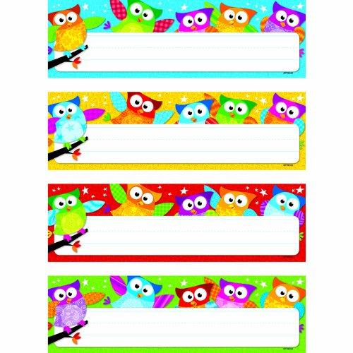 TREND ENTERPRISES INC. OWL STARS DESK TOPPERS NAME PLATES (Set of 24)