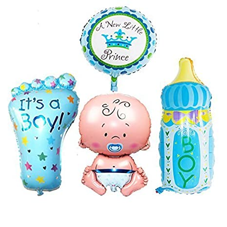 Warehouseshop WSS - Bebé Niños Niño Niña Enorme Globos de Papel metálico Bautizo Canastilla Cumpleaños Decoración Fiesta - Azul - NIÑO: Amazon.es: Juguetes ...