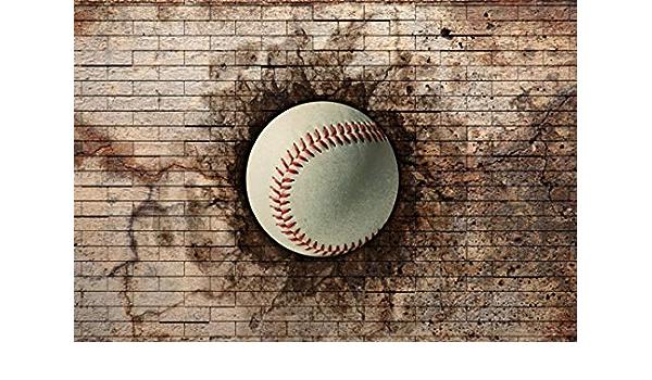 Leyiyi 5x5ft Photography Background 3D Baseball Backdrop Grunge Graffiti Dirty Balls High School Comepition Training Teams Champinship Photo Portrait Vinyl Studio Video Prop