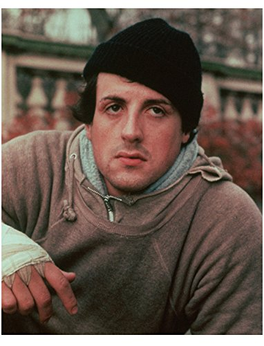 Sylvester Stallone As Rocky Balboa Close Up In Jogging Outfit 8 x 10 Inch Photo