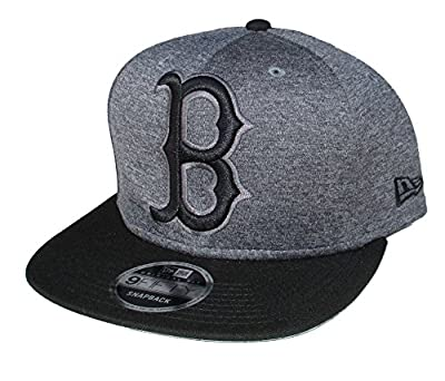 Boston Red Sox New Era BIG LOGO Snapback Adjustable One Size Fits Most Hat Cap - Charcoal Gray And Black by New Era Cap Company, Inc.