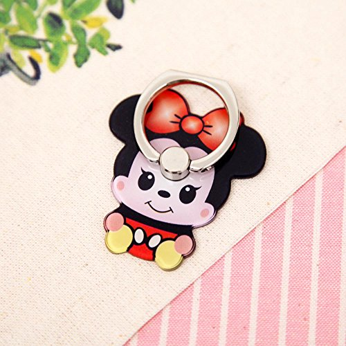 ZOEAST(TM) Disney Mickey Cat Duck Ring Universal 360° Rotating Phone Buckle Tablet Finger Grip Ring Stand Holder Kickstand Tablets iPhone 4 4S 5 5S 6 6S SE 7 Plus Samsung iPad iPod (Minnie)