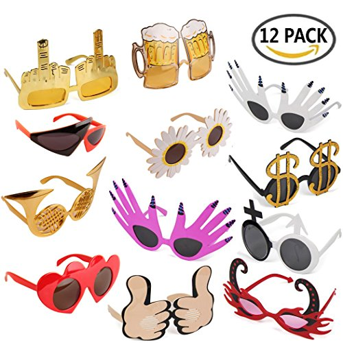 TD.IVES Funny Sunglasses Party Glasses Costume Sunglasses,12