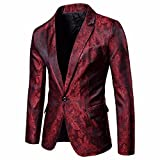 Gyoume Cardigan Coat Men Formal Suits One Button Tops Slim Fit Suit Blazer Coat Jacket Tops Clearance Sale
