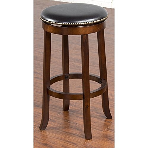 30-Inch Height Swivel Barstool, Cappuccino Finish ()