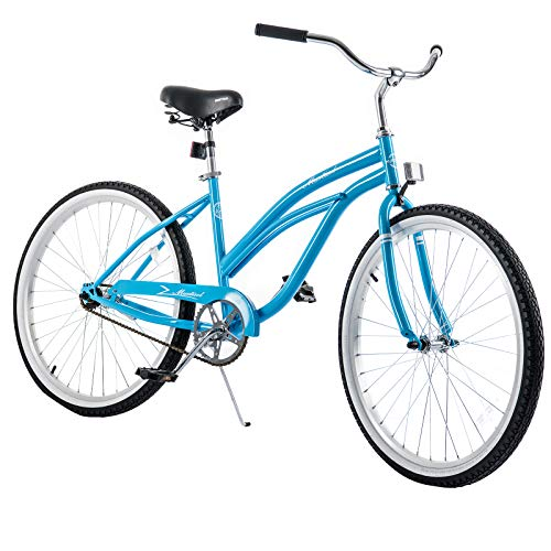 Murtisol Cruiser Bike 26'' Beach Bike Cruiser Bicycle City Bike Women's Bike Road Bike w/Single Speed,Steel Frame,Adjustable Seat,Pedal-Backwards Brake, Blue