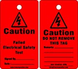 KRM LOTO CAUTION - FAILED ELECTRICAL SAFETY TAG (Set of 50 pcs)