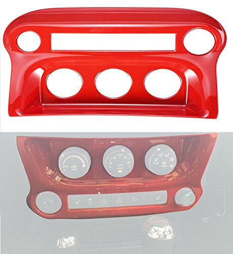 Opar Red Air Conditioning Switch Panel Cover Trim for 2011-2018 Jeep JK Wrangler & (Vent Switch Panel)