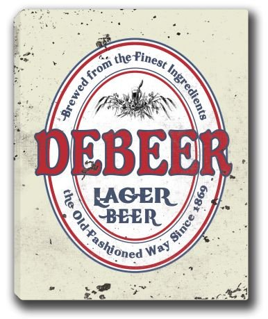 debeer-lager-beer-stretched-canvas-sign-16-x-20