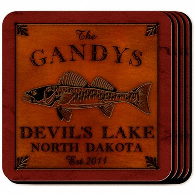 Personalized Gift Cabin Series Coaster (Set of - Set Series Coaster Cabin
