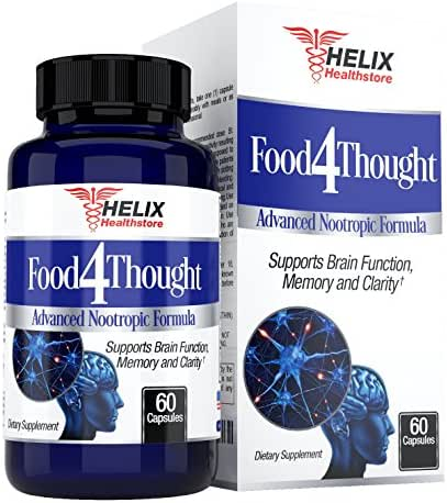 Brain Booster Support Supplement - Best for Mental Focus and Energy Pills - Super Ginkgo Biloba Capsules - St Johns Wort - Bacopa Monnieri - DMAE - Extra Strength Nootropics to Boost Memory & Clarity
