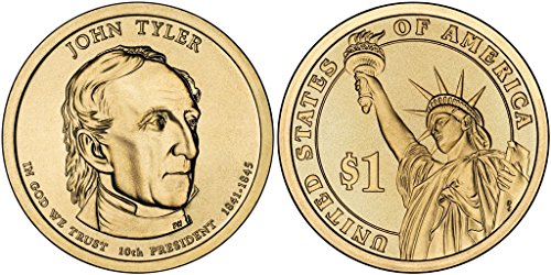 2009 P&D John Tyler Presidential Dollar Set