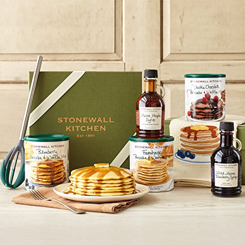 Stonewall Kitchen Breakfast Gift Baskets and Sets (7 Piece Signature Pancake Gift Set) made in New England