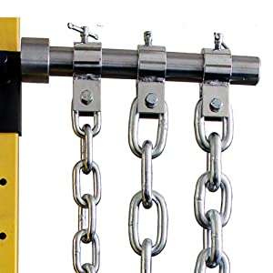Ader Fitness Weight Lifting Chain Set- 60 Lb Zinc w/ Chrome Collars