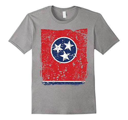 Mens Tennessee State Flag  Faded Flag Of Tennessee T Shirt 2Xl Slate