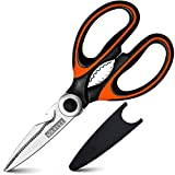 Kitchen shears- Soufull Multifunctional Stainless Steel Poultry Scissors for Poultry Meat Vegetables Herbs BBQ Open Jars and Nut Cracker -Professional Heavy Duty Kitchen Scissors