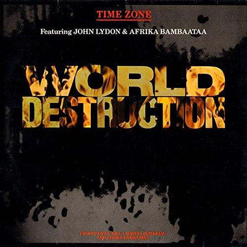 Time Zone Featuring John Lydon & Afrika Bambaataa - World Destruction - Virgin - 601 641, Virgin - 601 641-213