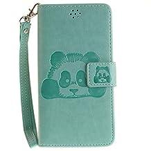 DOOGEE X5 Case, Doogee X5 Pro Case, COOSTOREEU Cute Cartoon Pattern Panda PU Leather Wallet Stand Flip Case Cover for DOOGEE X5 / Doogee X5 Pro, Green