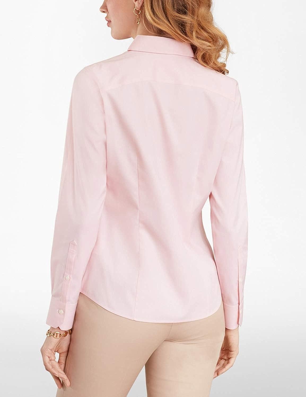 Brooks Brothers Women's Stretch Supima Cotton Dress Shirt Tailored Fit Medium Pink