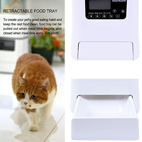 Automatic Cat Food Dispenser With Power Cord