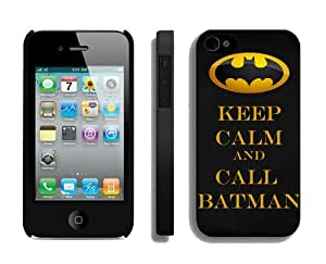 BESTER Customized Personalized phone plastic shell Case, The Joker, Batman Logo, Batman iphone4s case, Only fit iphone4s Black