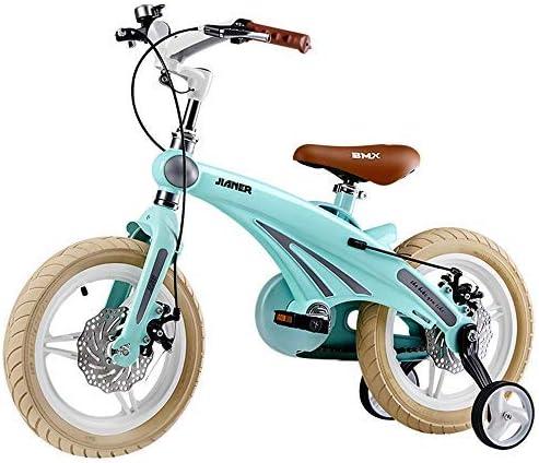 "YSA キッズバイクキッズ自転車、調節可能な高さ12""14"" 16""年齢2-8のキッズバイク、男の子と女の子、ディスクブレーキトレーニングホイール"