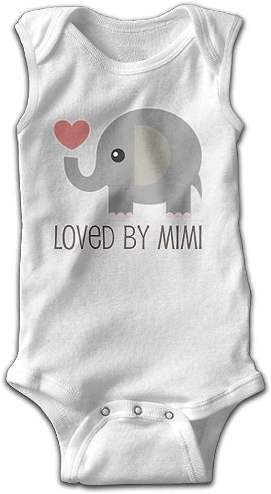 GongYe Loved by Mimi Elephant Comfortable Baby Infant Onesie Sleeveless Playwear White