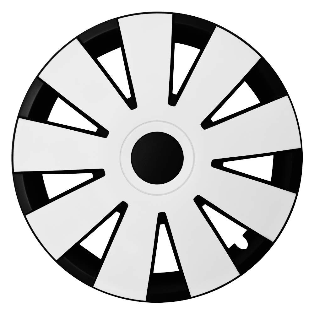 4 Ventilkappen Silber Gratis CM DESIGN 14 Zoll GRAL Gelb//Schwarz
