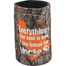 Duck Dynasty Officially Licensed Beer Can or Bottle Cooler Koozie - Several Styles Available - Can Coozie: Camo - Everything I Know I Learned From Uncle Si
