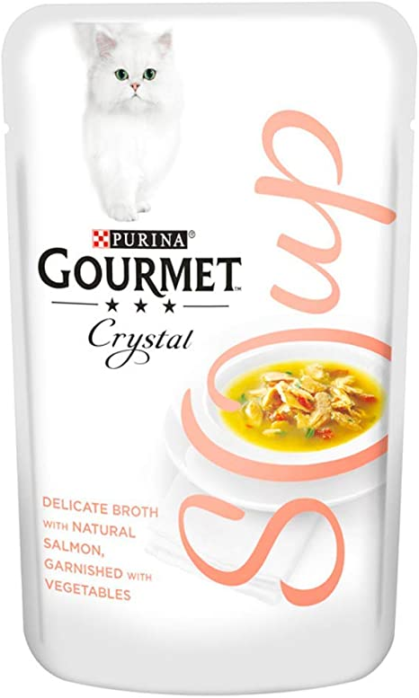 Gourmet Sopa Adulto Gato Pollo y Pescado y Verduras, 40 g – Pack ...