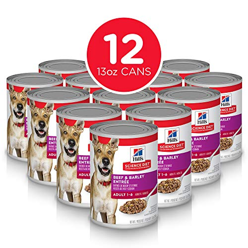 Hill's Science Diet Wet Dog Food, Adult, 13 oz Cans, 12 Pack
