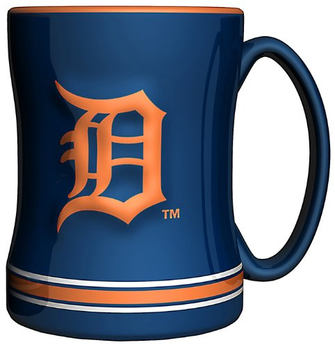 - MLB Detroit Tigers 14-Ounce Sculpted Relief Mug