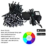 PEULED Smart String Lights, RGB 200Led 65ft 20 Functions, Remote Wireless Control by App, Indoor Outdoor Decorative Lights, Mini Bluetooth String Lighting