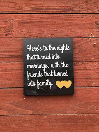 Amazoncom Gift For Best Friend Friendship Wood Sign Heres To