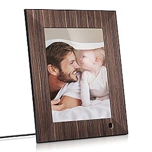 NIX Lux 8 Inch Digital Photo & HD Video Frame (Non-WiFi), With Hu Motion Sensor – Wood