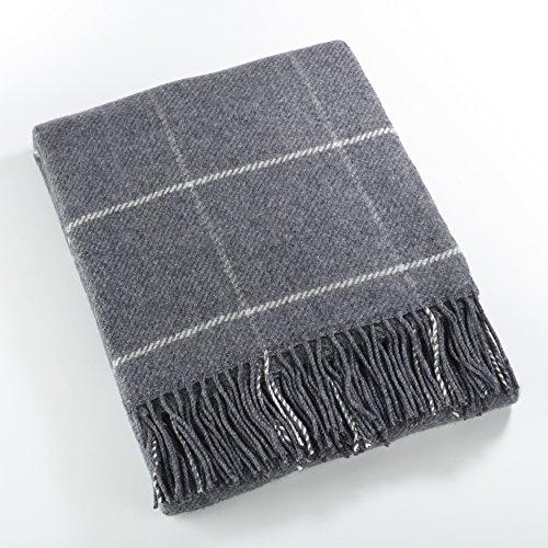 (Fennco Styles Sevan Collection Geometric Design Wool Blend Throw Blanket, 50