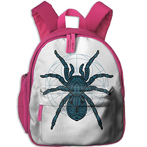 Sunmoonet Backpacks Mini Backpack, Blue Black Spider Little School Backpack For Kids Children