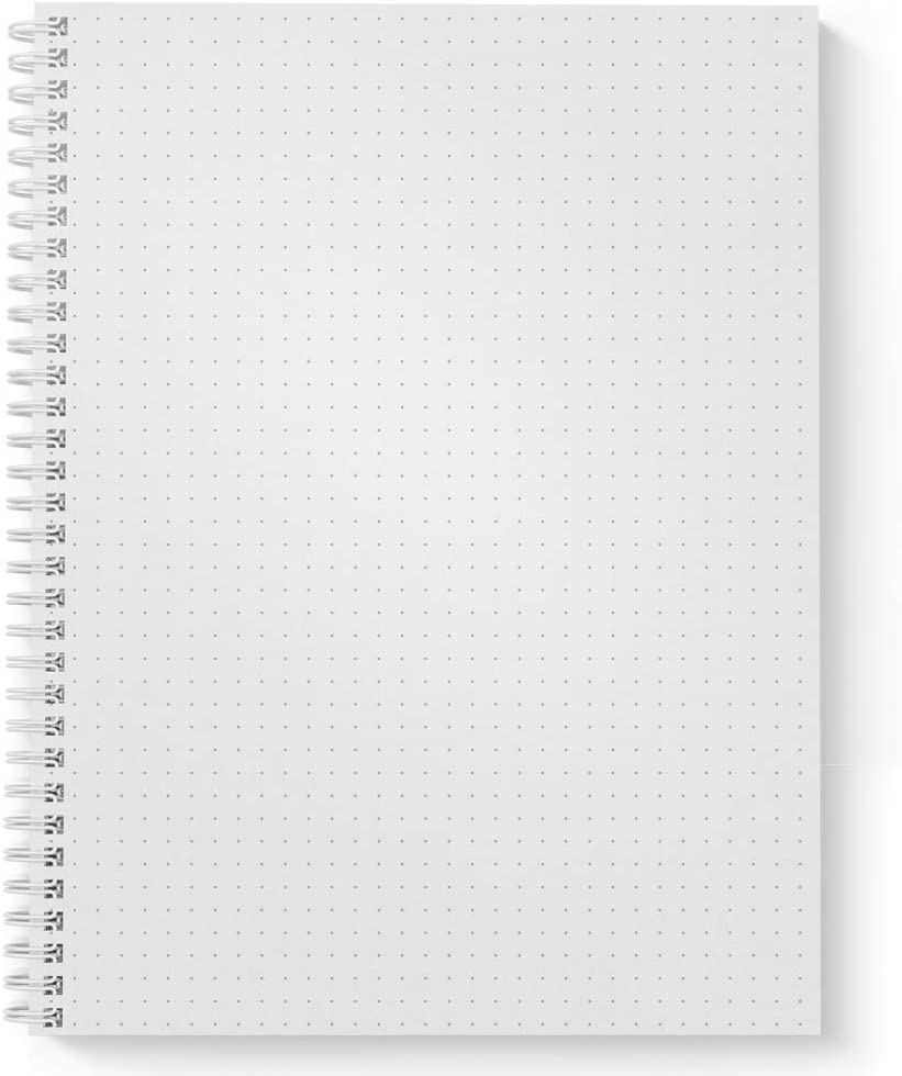 """Size: 8.5/"""" x 11/"""" My Time Personalized Motivational Notebook//Journal Laminated Soft Cover lay flat wire-o spiral 120 Dot Grid pages Made in the USA"""