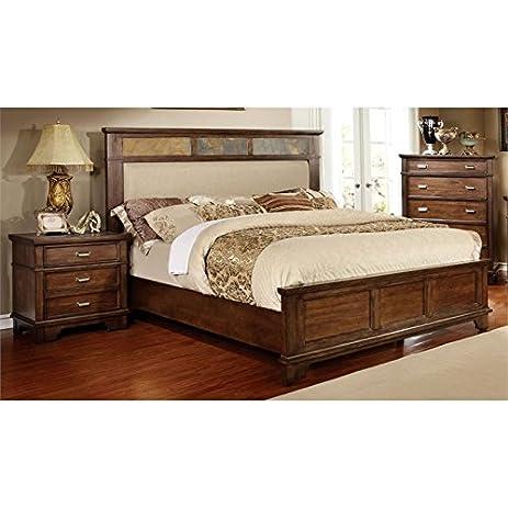 Merveilleux Furniture Of America Marley 3 Piece Queen Bedroom Set In Black